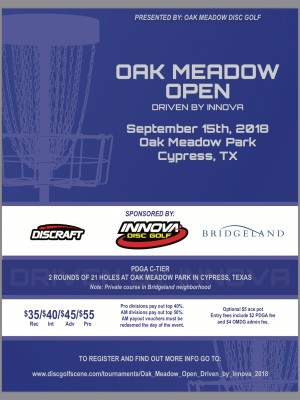 Oak Meadow Open Driven by Innova graphic
