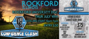 Legacy Discs Confidence Clash at Rockford University presented by LaurenAlexDG graphic