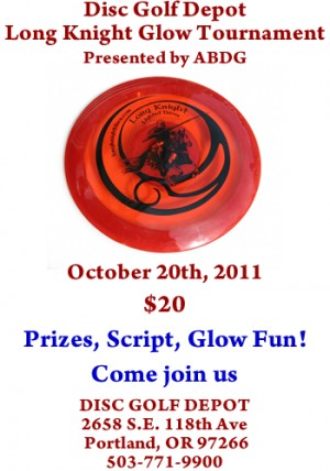 Disc Golf Depot Long Knight Glow Tournament - presented by ABDG graphic