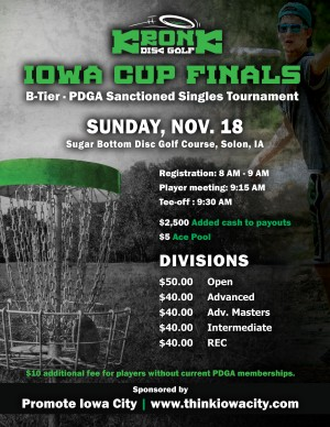 The Iowa Cup Finals presented by Kronk Disc Golf graphic