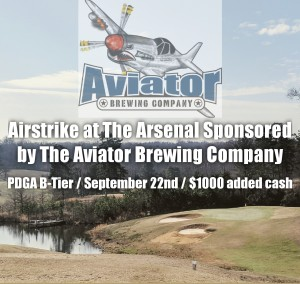 Airstrike at The Arsenal Sponsored by The Aviator Brewing Company graphic