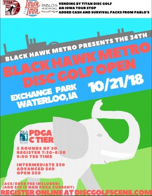 Black Hawk Metro Disc Golf Open graphic