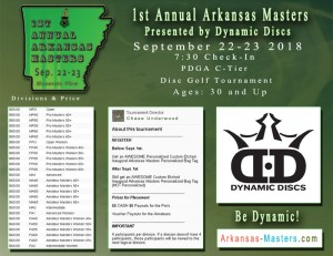 Dynamic Discs Presents: 1st Annual Arkansas Masters graphic