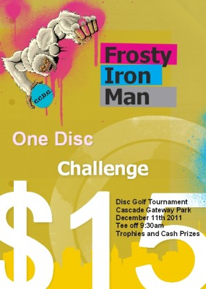 3rd Annual Frosty Ironman one disc challenge graphic