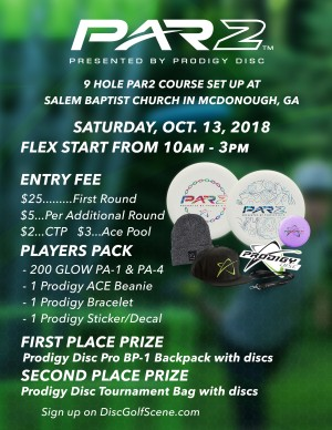 PAR2 presented by Prodigy Discs graphic