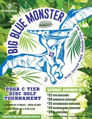 Maverick DG: Big Blue Monster presented by Innova Disc Golf graphic
