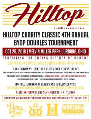 2018 Hilltop Charity Classic sponsored by Dynamic Discs graphic