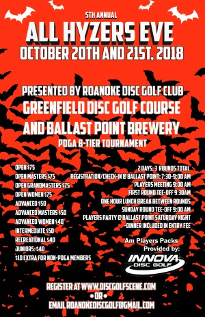 """5th Annual All Hyzer's Eve """"Driven by INNOVA"""" graphic"""