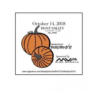Daddy Disc Golf Presents: The Hunt Valley Country Club 2018 Fall Open graphic