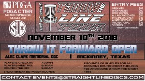 Throw It Forward Open - Throw the Line Tour Event graphic