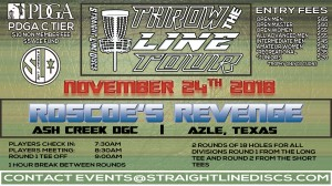 Roscoe's Revenge - Throw the Line Tour Event graphic
