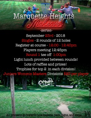 Marquette Heights Makeover Series Juniors Masters Women Singles graphic