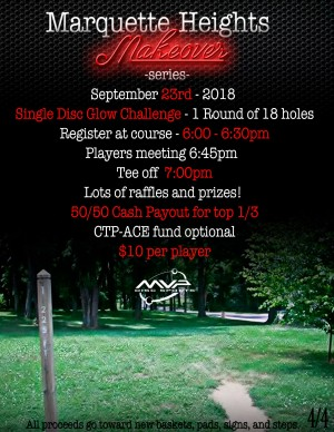 Marquette Heights Makeover Series Single Disc Glow Challenge graphic
