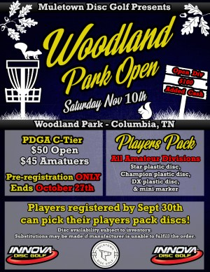 Woodland Park Open - Driven by Innova graphic
