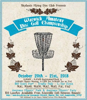 Warwick Amateur Disc Golf championship graphic