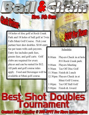 1st Annual Ball & Chain Best Shot Doubles Tournament graphic