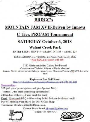 Mountain Jam XVII Driven by Innova - Pro/Am graphic