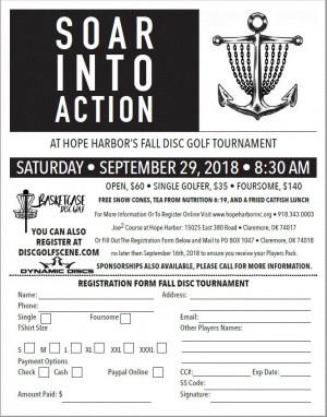 Hope Harbor Fall Disc Golf Tournament graphic