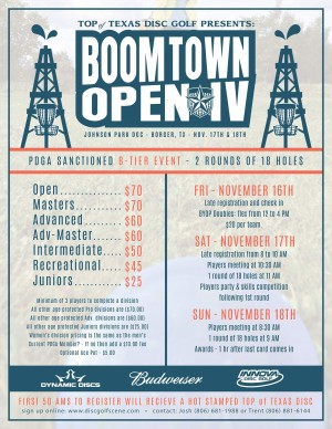 Top of Texas Presents: Boomtown Open IV graphic