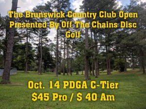 The Brunswick Country Club Open Presented By Off The Chains Disc Golf graphic