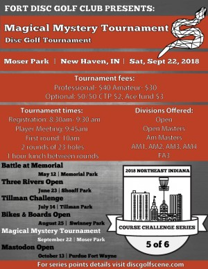 Magical Mystery Tournament- Sponsored by Dynamic Discs graphic