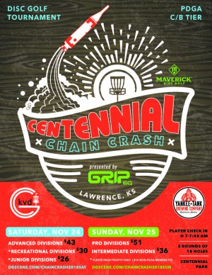 Maverick DG: Centennial Chain Crash 5 presented by Grip Equipment - Advanced, Recreational, Juniors graphic