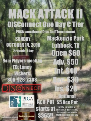 MACK ATTACK II - DISConnect One Day C Tier graphic