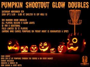 Pumpkin Shootout Glow Doubles graphic