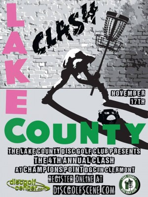 2018 Lake County Clash presented by DiscGolfCenter.com graphic