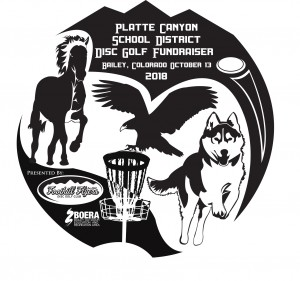 Platte Canyon School District Disc Golf Fundraiser Driven by Innova graphic