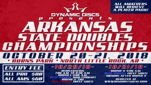 Dynamic Discs Presents: 2018 Arkansas State Doubles Championships graphic