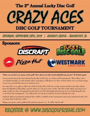 2nd Annual Crazy Aces Disc Golf Tournament graphic