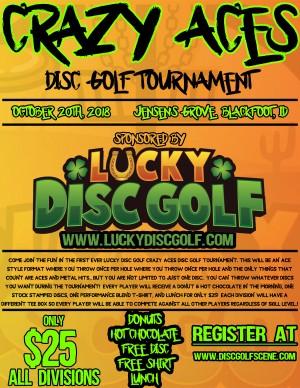 Crazy Aces Disc Golf Tournament graphic