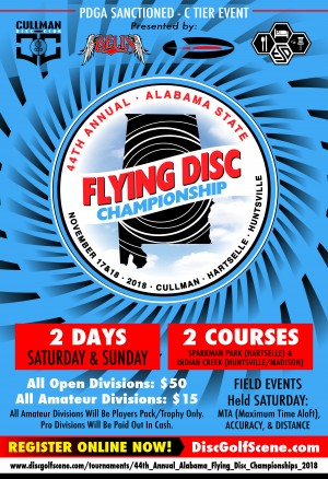 44th Annual Alabama State Flying Disc Championships graphic