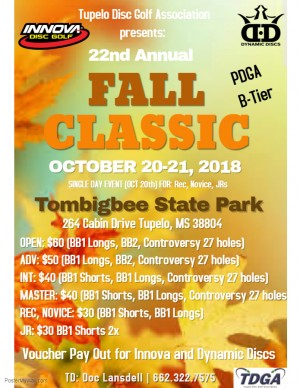 22nd Annual Tupelo Fall Classic graphic