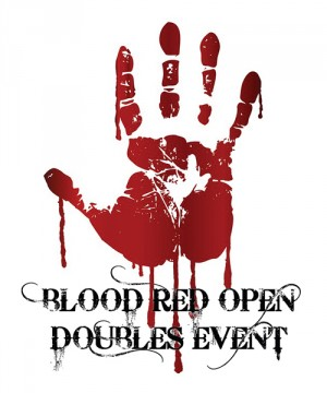 Annual BLOOD RED OPEN Doubles graphic