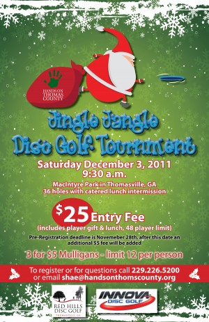 Jingle Jangle Disc Golf Tournament graphic