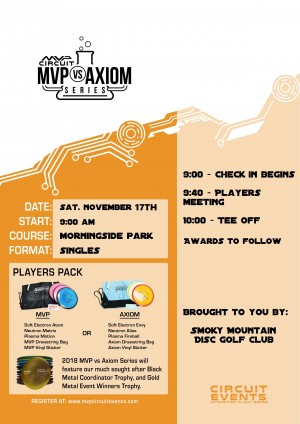 2018 MVP vs Axiom Challenge Presented by Smoky Mountain Disc Golf Club graphic