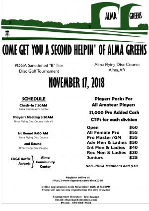 14th Annual Alma Greens graphic
