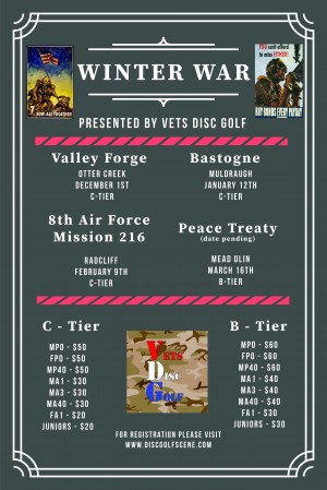 Bastogne - Presented by Vets Disc Golf graphic