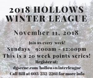 2018 Hollows 20 Week Winter League graphic