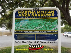 18th annual SoCal Deaf Disc Golf Championships graphic