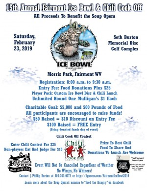 15th Annual Fairmont Ice Bowl & Chili Cook Off graphic