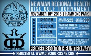 2018 Newman Regional Health Disc Golf Tournament graphic