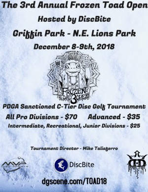 The 3rd Annual Frozen Toad Open graphic