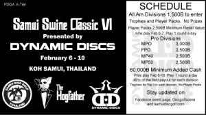 Samui Swine Classic VI - Presented by Dynamic Discs - Ams graphic