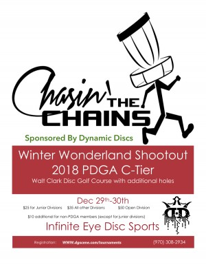 Inaugural Winter Wonderland Shootout 2018 Sponsored By Dynamic Discs graphic