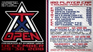 Dynamic Discs Presents the ATX Open graphic