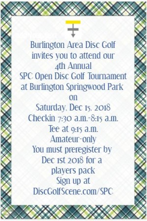 4th Annual SPC Open presented by Prodigy Discs graphic