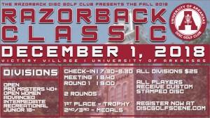 Fall 2018 Razorback Classic graphic